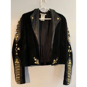 Givenchy Runway couture suede crystal jacket
